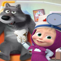 Masha and the Bear- Free Dentist Hospital Surgery