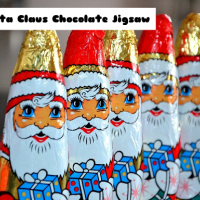Santa Claus Chocolate Jigsaw